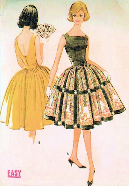 1960s Low Back Party Cocktail Dress Pattern Mccalls 5770